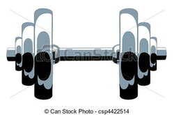 dumbbell clipart drawing
