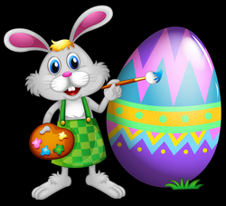 Easter Bunny and Colored Egg PNG Clipart Picture | Gallery ...