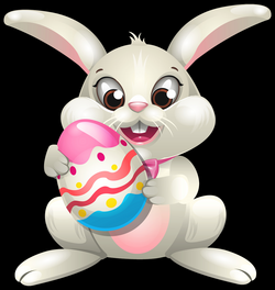 Easter Bunny whit Egg PNG Clip Art - Best WEB Clipart