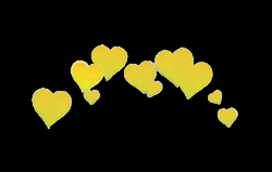yellow heart overlay png edit tumblr...