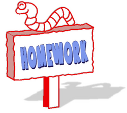 sign clipart homework