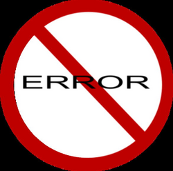 error transparent sign