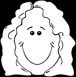 Clipart - Lady Face from World Label