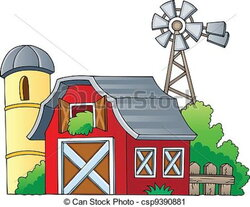 barn clipart vector