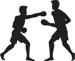 fighting clipart boxing match