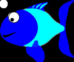 Blue And Turquoise Fish Clip Art at Clker.com - vector clip art ...