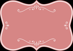 Decorative Pink Flourish Frame Icons PNG - Free PNG and Icons Downloads
