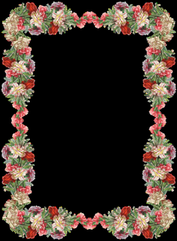 Free digital vintage flower frame and border - Blumenrahmen png ...