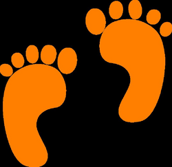 footsteps clipart vector
