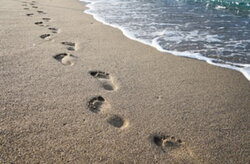 footsteps clipart footprints in sand