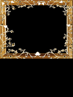 PNG Frame gold on a transparent background 1200 x 1376. | NOTHING ...