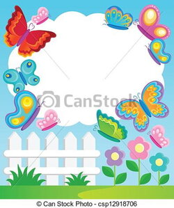 frame clipart butterfly