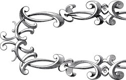 frame clipart victorian