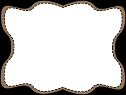 brown-wavy-stitched-frame.png (1162×878) | Families | Pinterest