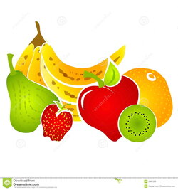 fruits clipart collage