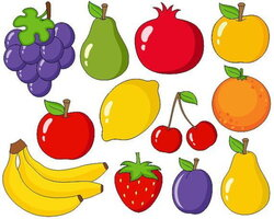 fruits clipart time