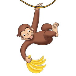 curious george clipart banana