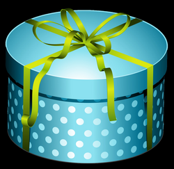 Gift clipart teal - Pencil and in color gift clipart teal