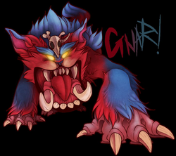 gnar drawing cartoon