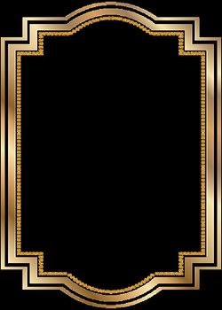 Border Frame Gold Transparent Clip Art | backgrounds - graphics ...