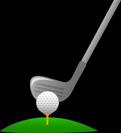 Golf Club And Ball Clipart