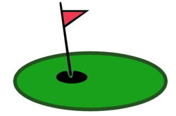 golfing clipart putting green