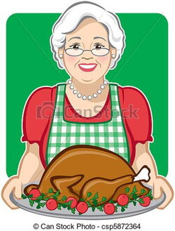 cook clipart grandmother
