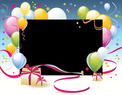 Happy Birthday Card Template transparent PNG - StickPNG