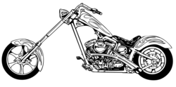 Harley davidson harley motorcycle black and white clipart 2 - Clipartix
