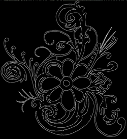 flower line art png