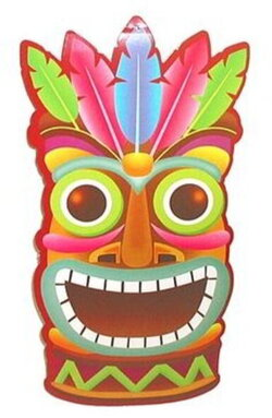 hawaiian clipart mask