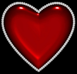 Red Heart with Diamonds PNG Clipart | HEARTS | Pinterest | Diamond ...