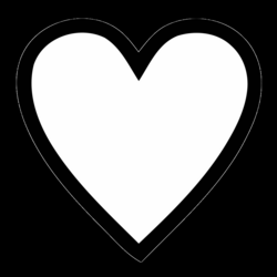 Heart Png Black Transparent