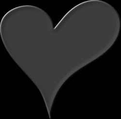 Heart in Black Icons PNG - Free PNG and Icons Downloads