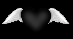 Black Heart with Wings Transparent Clipart | Gallery Yopriceville ...