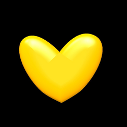 Yellow Heart PNG Image | PNG Mart