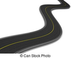 curved clipart tar road