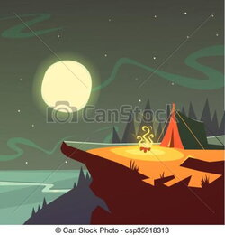 hiker clipart night hike