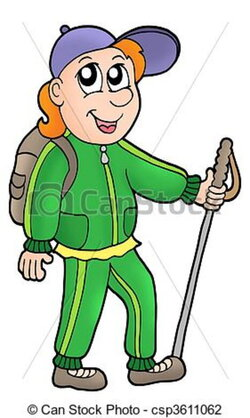 hiker clipart animated