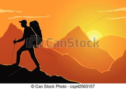 hiker clipart mountaineering