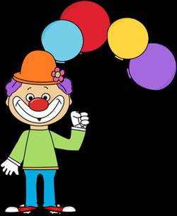 Clown With Balloons Clipart