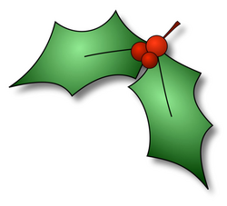 small clipart holly