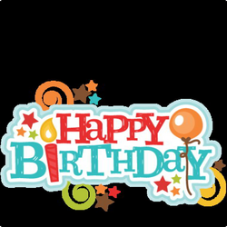 Happy Birthday TItle SVG scrapbook cut file cute clipart files for ...