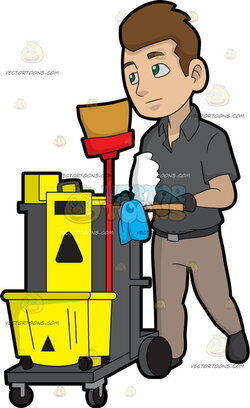 janitor clipart working