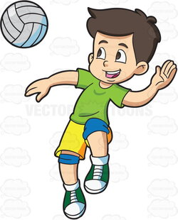 kid clipart volleyball