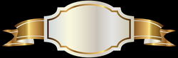 White Label and Gold Banner PNG Clipart Image | Gallery ...