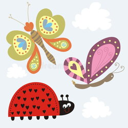 butterfly clipart ladybug