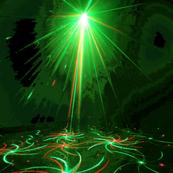 Disco laser light effect transparent png
