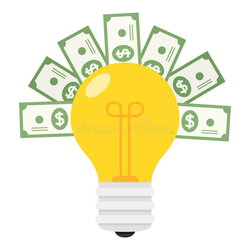 thought clipart small light bulb