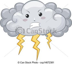 lightning clipart angry cloud